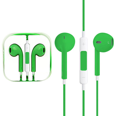 High Quality EarPods with Remote and Mic for iPhone 6 & 6 Plus, iPhone 5 & 5S & 5C, iPhone 4 & 4S, iPad / iPod touch, iPod Nano / Classic(Green) - Beewik-Shop.com