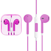 High Quality EarPods with Remote and Mic for iPhone 6 & 6 Plus, iPhone 5 & 5S & 5C, iPhone 4 & 4S, iPad / iPod touch, iPod Nano / Classic(Magenta) - Beewik-Shop.com