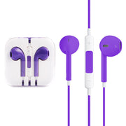 High Quality EarPods with Remote and Mic for iPhone 6 & 6 Plus, iPhone 5 & 5S & 5C, iPhone 4 & 4S, iPad / iPod touch, iPod Nano / Classic(Purple) - Beewik-Shop.com