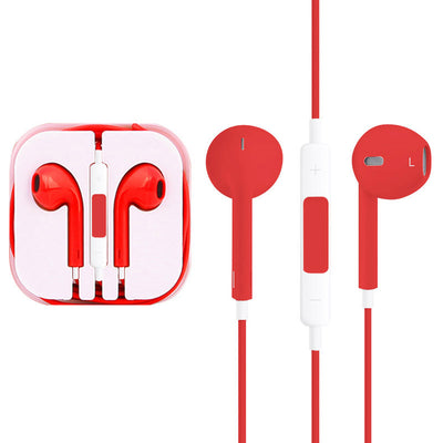 High Quality EarPods with Remote and Mic for iPhone 6 & 6 Plus, iPhone 5 & 5S & 5C, iPhone 4 & 4S, iPad / iPod touch, iPod Nano / Classic(Red) - Beewik-Shop.com