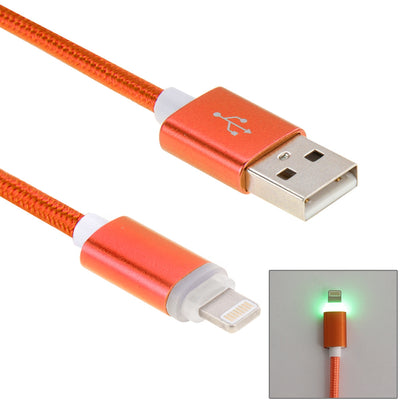 1m Woven Style 8pin to USB Data Sync Cable with LED Indicator Light, For iPhone 6 Plus / 6s Plus / 6 / 6s / 5 / 5S / 5C & iPad Pro / Air 2 / Air / mini 3 / mini 2(Orange) - Beewik-Shop.com