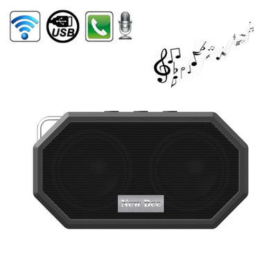 New Bee Portable Pocket IP65 Waterproof Shockproof CSR 4.0 Bluetooth Speaker with AUX Function & Mic, For iPhone, Galaxy, Sony, Lenovo, HTC, Huawei, Google, LG, Xiaomi, other Smartphones(Black) - Beewik-Shop.com