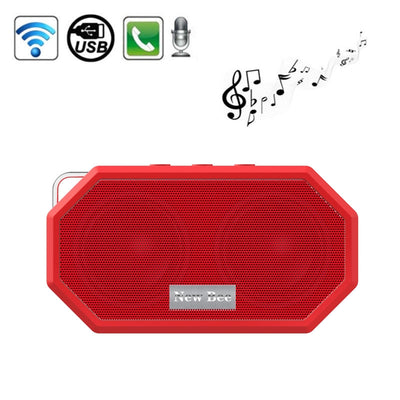 New Bee Portable Pocket IP65 Waterproof Shockproof CSR 4.0 Bluetooth Speaker with AUX Function & Mic, For iPhone, Galaxy, Sony, Lenovo, HTC, Huawei, Google, LG, Xiaomi, other Smartphones(Red) - Beewik-Shop.com