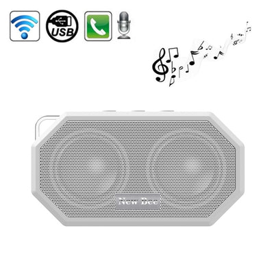 New Bee Portable Pocket IP65 Waterproof Shockproof CSR 4.0 Bluetooth Speaker with AUX Function & Mic, For iPhone, Galaxy, Sony, Lenovo, HTC, Huawei, Google, LG, Xiaomi, other Smartphones(White) - Beewik-Shop.com