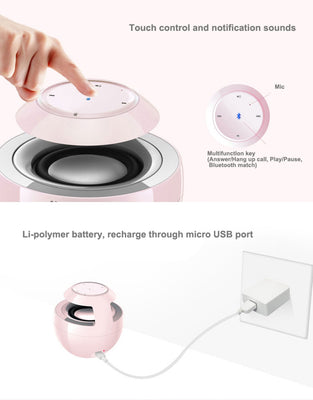 Huawei AM08 Swan Wireless Mini Bluetooth Speaker, Support Hands-free(Pink) - Beewik-Shop.com