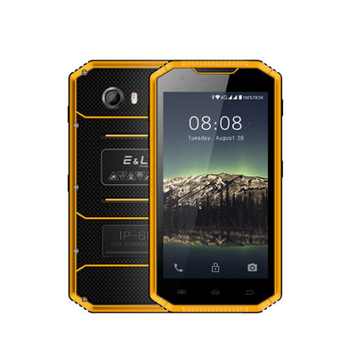 Telefono cellulare impermeabile EL W7S IP68 - 2 GB RAM 16 GB ROM, 5.0 pollici HD, Android 7.0 MT6737 Quad Core, 8.0MP + 5.0MP - Giallo - Beewik-Shop.com