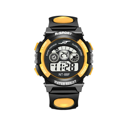SIMU Kids Boy Girls Electronic Watch Students Multi-function Sports Casual Wristwatch yellow - Beewik-Shop.com