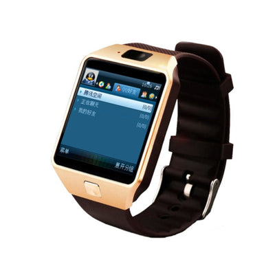 SIMU Sports Smart Watch SIM Card Bluetooth 3.0 Message Reminder Electronic Watch Golden - Beewik-Shop.com