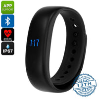 Lenovo HW02 Fitness Tracker Bracelet - Pedometer, Sleep Monitor, Calorie Counter, Heart Rate Monitor, Bluetooth, IP67 (Black) - Beewik-Shop.com