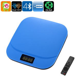 TAP PRO Android TV Box - Octa-Core CPU, 2GB DDR3 RAM, 4K Support, Android 6.0, Bluetooth 4.0, Google Play, Dual-Band WiFi (Blue) - Beewik-Shop.com