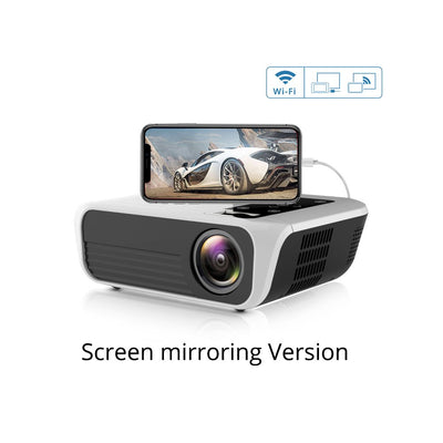 T500 Mini Projector 1080P High Definition LED Home Digital Projector Portable for Mobile Phone white_EU Plug - Beewik-Shop.com