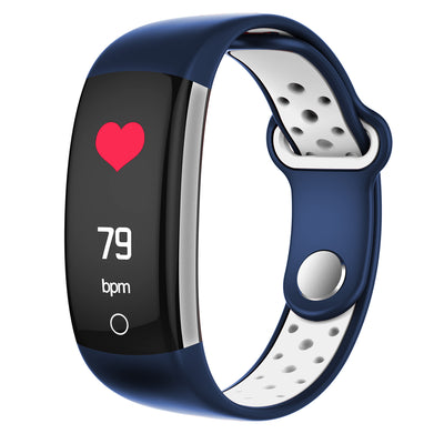 Q6-White  Bluetooth Fitness Tracker - Heartrate Monitor,Pedometer, Calorie Counter, Notificaions, Calls,, 0.96 Inch Display Ip68 - Beewik-Shop.com