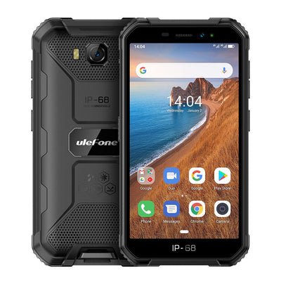 Ulefone Armor X6 Phone 5.0inch HD Screen 2G RAM + 16GB ROM Memory 5MP + 8MP Camera 4000mAh Battery Android 9.0 OS black - Beewik-Shop.com