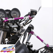 "Guidon de moto universel 7/8"" 22mm CNC Aluminium Cross Bar Bar Pliable Flexible Handle Bar noir - Beewik-Shop.com"