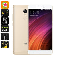 Xiaomi Redmi Note 4X Android Phone - Android 6.0, Deca-Core CPU, 4GB RAM, Dual-IMEI, 5.5-Inch Display, 4G, Dual-Band WiFi (Gold) - Beewik-Shop