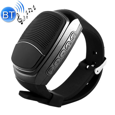 B90 Smart Portable Stereo Wireless Bluetooth V3.0 + EDR Sport Music Watch Speaker, Support Hands-free Calls & Intelligent Screen Display & FM Radio & TF Card & Cellphone Anti-lost(Black) - Beewik-Shop.com