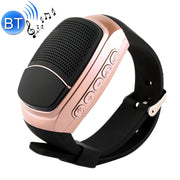 B90 Smart Portable Stereo Wireless Bluetooth V3.0 + EDR Sport Music Watch Speaker, Support Hands-free Calls & Intelligent Screen Display & FM Radio & TF Card & Cellphone Anti-lost(Gold) - Beewik-Shop.com