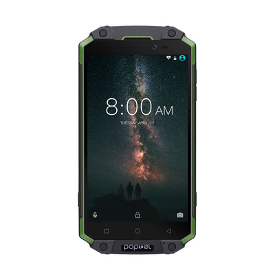 Preorder POPTEL P9000 MAX Android Phone Green- Android 7.0-4GB RAM, 5.5-Inch FHD, IP68, Dual-IMEI - Beewik-Shop.com