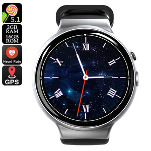 I4 Air Smart Watch Phone - Calls, Messages, 1 IMEI, 3G, 5MP Camera, Social Media, Pedometer, Heart Rate, Android OS (Silver) - Beewik-Shop.com