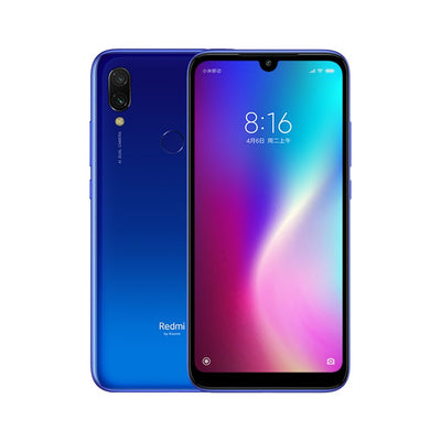 Smartphone Xiaomi Redmi 7 - 4GB RAM, 64GB ROM, Snapdragon 632, appareil photo 12MP Dual AI, batterie 4000mAh - Bleu - Beewik-Shop.com