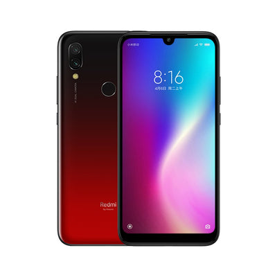 Smartphone Xiaomi Redmi 7 - 4GB RAM, 64GB ROM, Snapdragon 632, appareil photo 12MP Dual AI, batterie 4000mAh - Version CN rouge