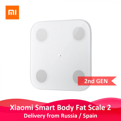 Xiaomi Smart Body Fat Composition Scale 2 Bluetooth 5.0 Balance Test 13 Body Date BMI Health Weight Scale LED Display white - Beewik-Shop.com