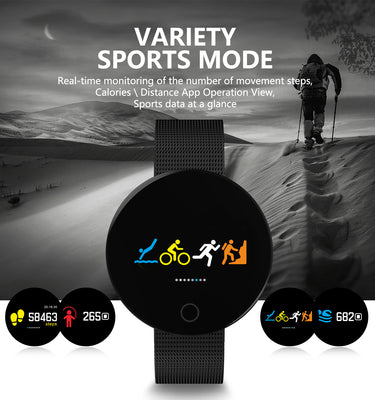 Bluetooth Fitness Tracker - Heartrate Monitor, Pedometer, Calorie Counter, Notificaions, Calls,, 0.96 Inch Display Ip67 - Beewik-Shop.com