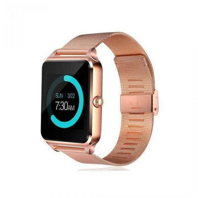 Smart Watch Z60 GSM SIM Phone Mate Bluetooth de couleur en Or / Acier inoxydable pour IOS Android - Beewik-Shop.com