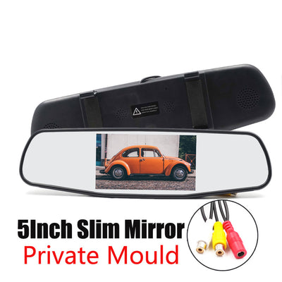 5 Inch Car Mirror Monitor - 4_3 Ratio, 800x480 Resolution, 2 Video Input - Beewik-Shop.com