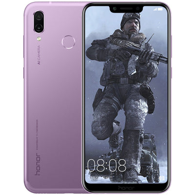 Huawei Honor Play Smartphone - 6.3 Inch Screen, 6GB RAM, Octa Core, Dual AI Camera, Fingerprint, Support Micro SD Card (Violet)