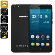 Android Smartphone Siswoo C5 Blade - Android 6.0, Quad-Core CPU, 2GB RAM, 5 Inch HD Display, 2000mAh, Dual-Band WiFi, 4G, 2 IMEI