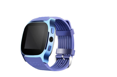 C8 watch mobile phone Blue - bluetooth 4.0, 1 IMEI, 2 G, pedometer, sleep monitoring.Sedentary remind - Beewik-Shop.com