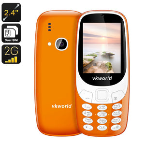 VKWorld Z3310 Handy - Ziffernblock, Dual-SIM, (Orange) - Beewik-Shop.com