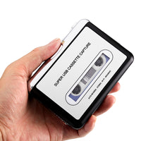 Cassette Tape-to-MP3 Converter - Plug and Play, Win + Mac Compatible, Auto Reverse, Audacity Audio Software - Beewik-Shop.com