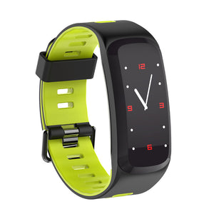 NO.1 F4 Fitness Tracker Bracelet - 0.96 Inch OLED Screen, Bluetooth 4.0, Multi-sport Mode, Heart Rate, Blood Pressure (Green)