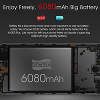 Oukitel K6000 Plus Android - Dual-IMEI, 4GB RAM, Android 7.0, 1080p (Noir) - Beewik-Shop.com