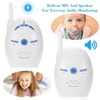 Baby Audio Monitor - 2.4GHz Wireless, Dual-Way Communication Support, Sensitive Mic And Speakers, Plug And Play