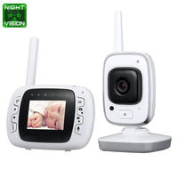Baby Monitor - 2.4G Wireless, 300m Transmission Distance, 32GB Internal Storage, Dual Way Audio, Temp Monitor, 3M Night Vision
