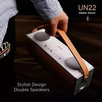 Bluetooth Speaker - 2200mAh, Double Speakers, SD Card Slot, Handsfree Calls, Bluetooth 4.0, Stylish Design