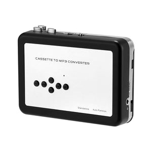 Cassette To MP3 Converter - No PC Required, 32GB SD Card Support, 3.5mm Audio Jack, Music Play Back, 2x AA Battery - Beewik-Shop.com