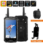 Conquest S8 Rugged Phone 2017 Edition - IP68, External Walkie-Talkie Mic, 4G, SOS, Android 6.0, Octa-Core CPU, 1080p, 6000mAh - Beewik-Shop.com