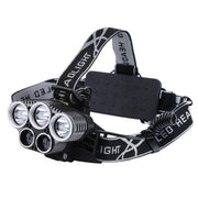 CREE LED Headlight - 5 LED, 2x 18650 Battery, 5 Light Modes, 2x Blue-ray LED, Aluminum Alloy, Adjustable Size And Angle - Beewik-Shop.com