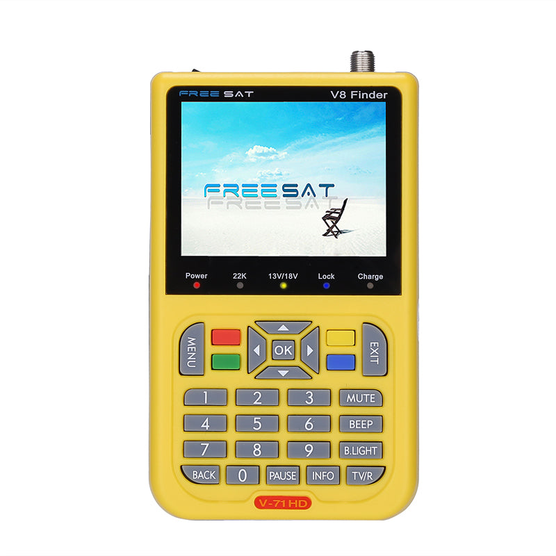 Freesat V8 DVB-S2 HD Satellite Finder - 3.5 Inch LCD Screen, 3000mAh Battery, 6000 Channels, AV/HDMI Out Function - Beewik-Shop.com