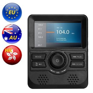 DAB-Monitor - 3-Zoll-Display, FM-Sender, Bluetooth, Aux Out, DAB-Band III-Frequenzbereich - Beewik-Shop.com