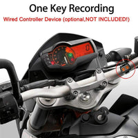 Dual-Camera Motorcycle DVR - 720p, IP57 Waterproof, Loop Recording, 2-Inch Display, 0.3MP CMOS, 120-Degree Lens - Beewik-Shop.com