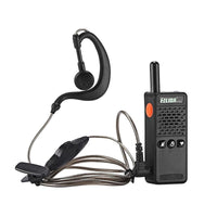 ELIDA T-M2 Mini Walkie Talkie Set - 1KM Range, 16 Channels 430 To 470MHz, Noise Cancellation, 1200mAh Battery, PPT