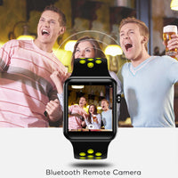 DM09 Plus Bluetooth Watch - Pedometer, 1 IMEI, Calls, SMS, Social Media Notifications, Bluetooth 4.0, OLED (Gray + White) - Beewik-Shop.com