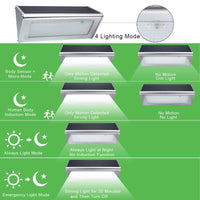 Outdoor LED Solar Light - 48 LED Lights, 800 Lumen, Solar Panel, 3000mAh, 4 Lighting Modes, IP65 Waterproof, 6W - Beewik-Shop.com