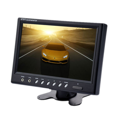 9 Inch TFT LCD Monitor -  800x480, NTSC/PAL, Headrest Mount Frame, Two Way Video Input, 7W - Beewik-Shop.com