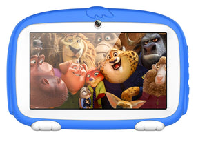 Android Tablet PC – For Kids, Sophisticated Hardware, WiFi, 7 Inch Display, HD Visuals, 4000mAh, Built-in Camera (Blue)